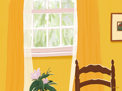 Illustration Series: Inside the Window procreate illustration