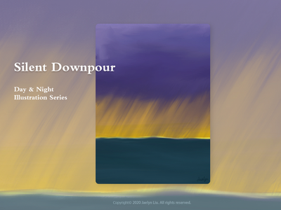 Illustration:Silent Downpour artwork design ocean photograph drawings procreate illustration