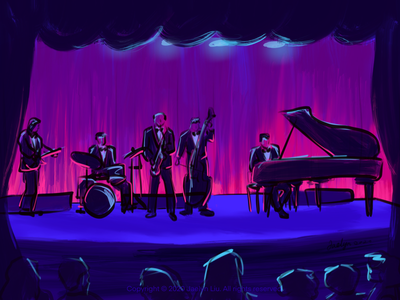 Illustration:the concert design sketch concert music procreate colors artwork paintings drawings illustration