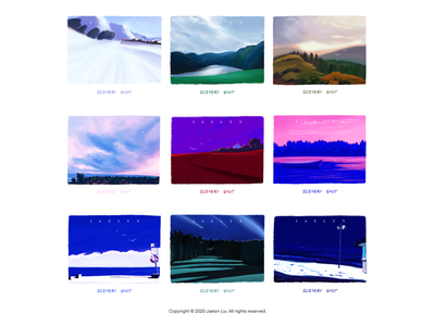 Illustration series: scenery shot procreate colorful nature shot series sketch design artwork paintings drawings illustration