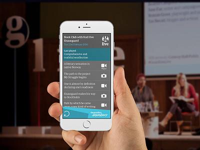 The Guardian Live Wall journalism events product design ui design os design ux design app design web design mobile design product development ux app development