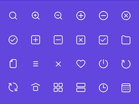 Freebie PSD: Icon Set with 60 Light & Dark Icons