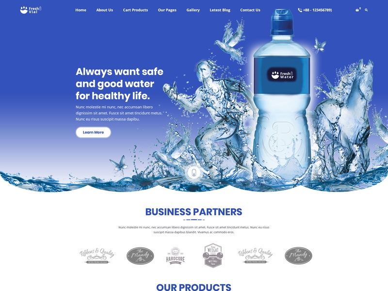 Drinking Mineral Water Delivery Psd Template By Towkibur Rahman