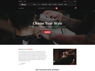 Barber Salon PSD Template