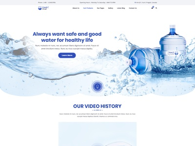 Drinking Mineral Water Delivery HTML Template