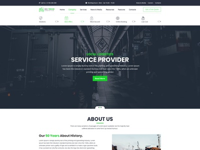 Mex Trevor - Logistic & Transport PSD Template