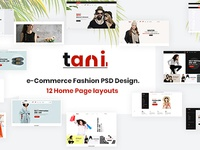 Tani - e-Commerce Fashion PSD Template