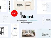 Bkoni - Multipurpose minimal e-Commerce PSD Template