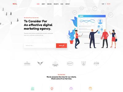 Digital Marketing Agency PSD Template socialmedia social marketing smm seo marketing seo agency seo ppc marketing expert marketing agency digital marketing agency digital marketing