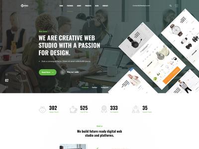 web studio psd template