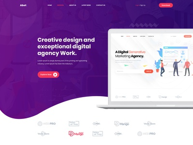 Abet - Hosting, SEO & Digital Marketing Agency PSD Template