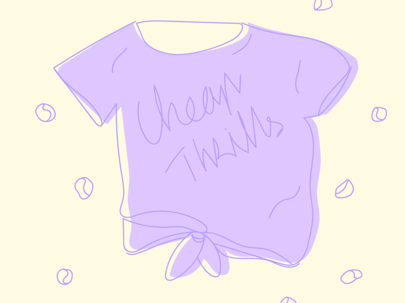 Cheap Thrills - teeshirt illustration vector clothe sia cheapthrill purple teeshirt