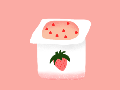 Strawberry yoghurt forever