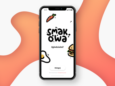 Hello Dribbble! carrot egg burger orange icon food app hello