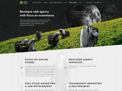 Home page of the.gt (our own website) boutique web agency ecommerce