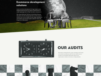Ecommerce audit @ the.gt (our own website) space landing page audit ecommerce