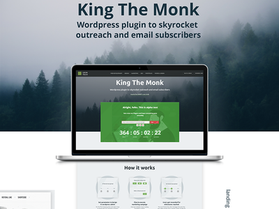 king the monk - wordpress plugin for viral giveaways