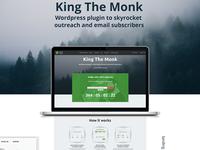 king the monk - wordpress plugin for viral giveaways