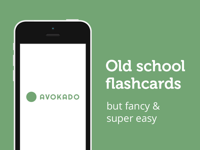 Avokado - old school flashcards but fancy & super easy flashcard edutech learning web app
