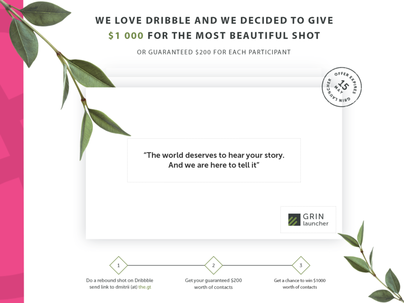 GRIN Launcher Promo Campaign (Dribbble Exclusive) launch launcher agency landing page promo lead capture sales lead generation