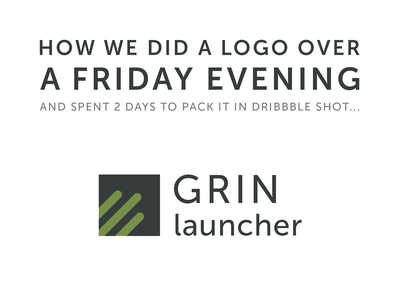 Designer's life - few hours on logo, 2 days to do a shot launcher agency fun backstage process landing page