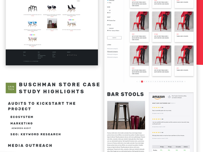 Buschman Store Redesign - Single Collection before and after redesign furniture store online store shopify ecommerce agency