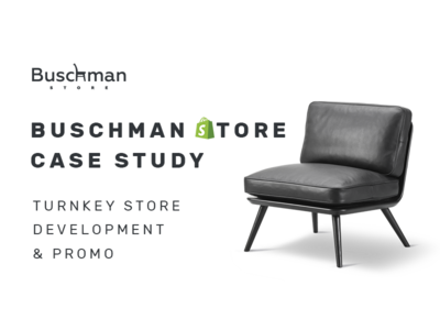 Buschman Store Redesign Promo online store shopify promo corporate ecommerce agency