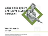 Affiliate with GRIN tech freelance network corporate landing page affiliate marketing affiliate agency