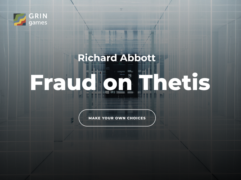 Fraud On Thetis by GRIN Games & Richard Abbott games cyoa text-based game books