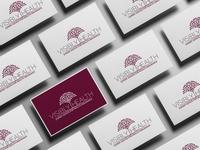 Visibly Health Logo Brand Design Business Cards