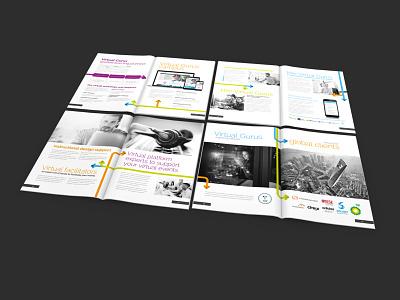Virtual Gurus Brochure Design typography corporate brochure print graphic design brochure design