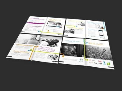 Virtual Gurus Brochure Design typography corporate brochure print graphic design brochure design