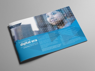 TMA World Corporate Brochure typography graphic design corporate design brochure design