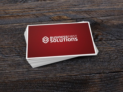 Business First Solutions Logo Design print business cards brand design branding logo design logo