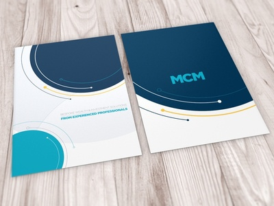 MCM Corporate Brochure Cover print brand design branding brand corporate brochure design brochure