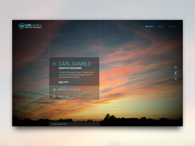 New Portfolio Home Page Concept ux typography ui web graphic design web design
