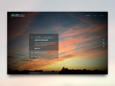New Portfolio Home Page Concept ux typography ui web graphic design web design