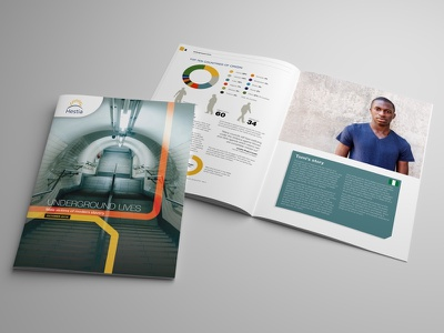 Hestia Report Design design brochure graphic design typography print brochure design
