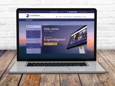Ecig User Area Design ux design ui branding web desgin