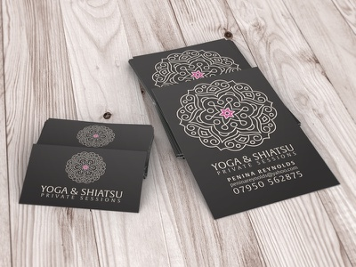 Yoga / Shiatu Flyer design print typography graphic design