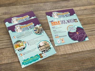 Dog Wash Flyer Design logo design logo design brochure print brand design typography graphic design