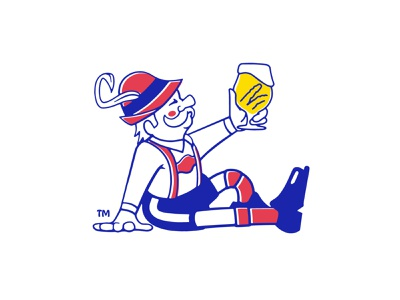Herman the German logo beer packaging character vector illustrator branding design drawing illustration