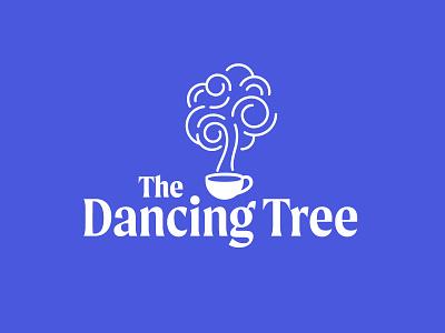 The Dancing Tree coffee shop coffee shop logo logos coffeeshop logotype business coffee vector illustrator logo design logo branding