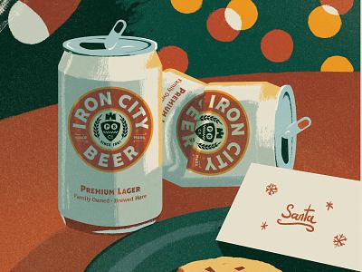 Iron City Christmas Illustration vector raster illustrator photoshop branding drawing illustration
