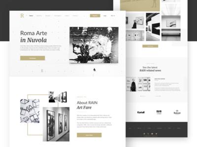 Art Event Landing Page Concept