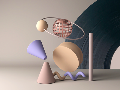 Vinyl Record Moon music glaxy space color texture arnold maya illustration animation geometric firstshot record vinyl 3d