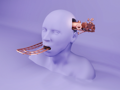 Bosluk - Cover Design cover design love song memory railway head man train album cover 3d