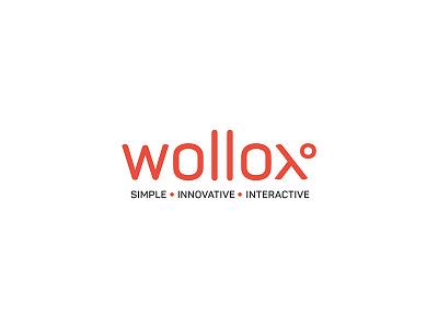 Wollox Dribbble projection logotype x logo product design lens product symbol white red brandig logo