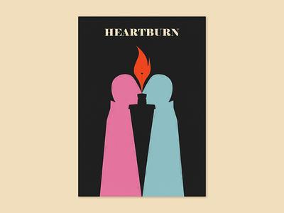 «Heartburn» love hearburn visual communication plakat graphic design graphics design art illustration poster