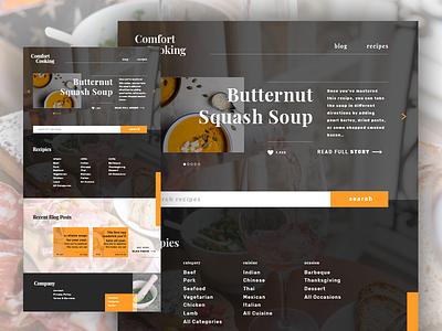 Recipe Website landing page visual design website web clean home recipe ux ui
